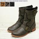 ウエスタンカッティング ◆ Engineer Boots low heel / belts / women's / casual / middle-length response no unless the inventory / stock this product.
