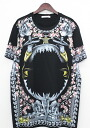 Givenchy in 2000s /GIVENCHY フラワーシャークマーメイド pattern T shirt (XS / black) fs04gm bb34 #rinkan * A
