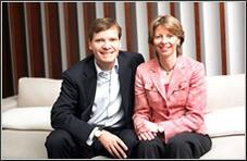 ピーター・スタースと妻アレッタ・バックス
