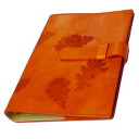 -Christmas/Italy / leather / system Handbook cover /A5 size / refills sold separately / products-:off-org-large-nat-i-mandarin