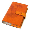 / real leather / system notebook cover / Bible size / refill separate sale / article number made in Christmas / Italy: off-org-medium-nat-i-mandarin