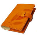 / Made in Italy leather / system Handbook cover / mini 6 hole refills (sold separately) item No. :off-org-small-nat-i-mandarin