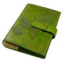 / real leather / system notebook cover / mini-6 hole / refill separate sale / article number made in Christmas / Italy: off-org-small-nat-i-pea_green