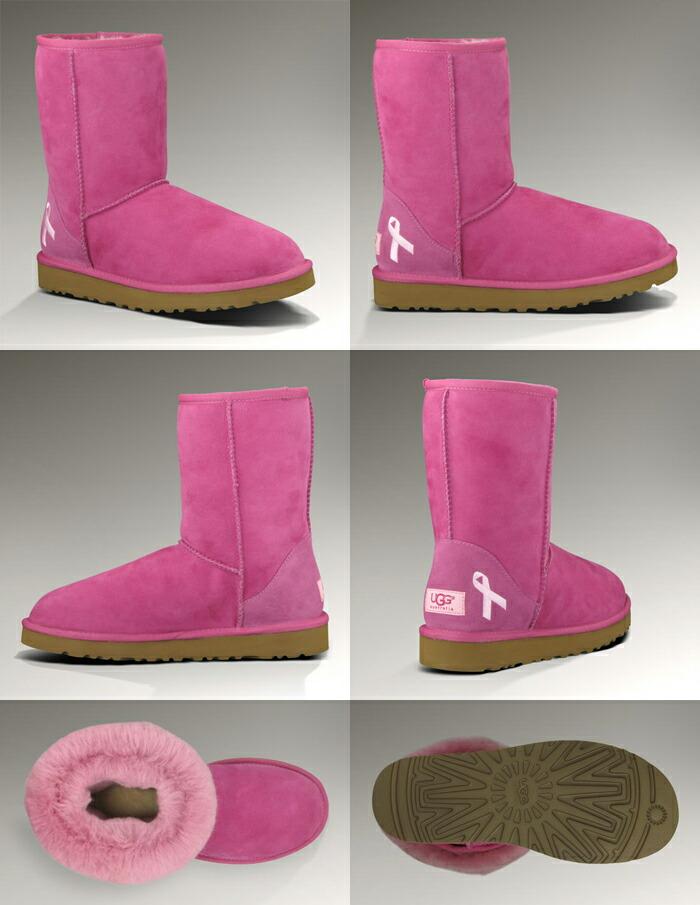 pink ribbon ugg boots