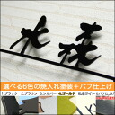 Stainless steel laser-cut stainless steel nameplate nameplate kanji line with ひょうさつ