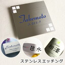 Door plate stainless stainless steel etched nameplate series ひょうさつ