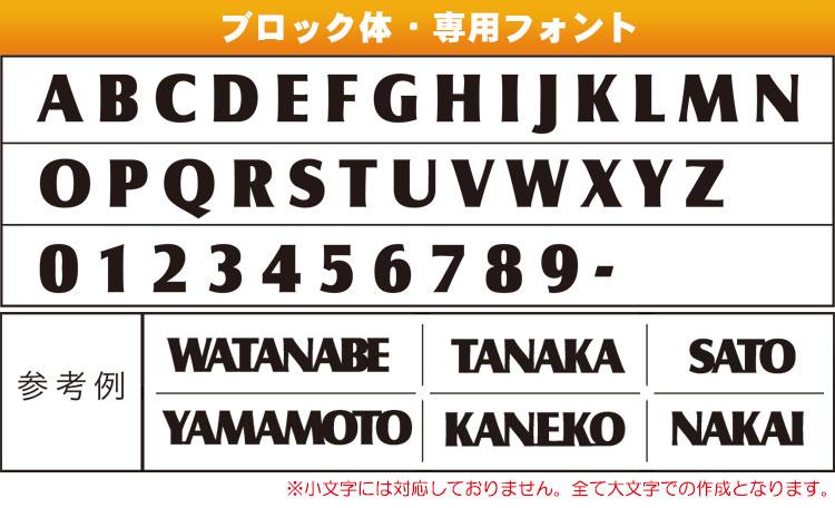 グローバルフォント 書体対フォント : Block Letter Font with Lines