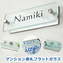 Door plate glass flat glass nameplate mansion type ひょうさつ