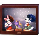 June monthly figure 'rainy season' hydrangea Mickey Mouse & Minnie mouse ♪ fs3gm