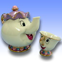 [Disney Princess] Beauty and the Beast figurine collection - Mrs. Potts and Chip tea set ornament