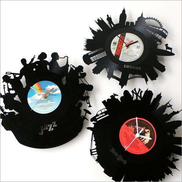 アナログレコードの掛け時計 3タイプ(1)