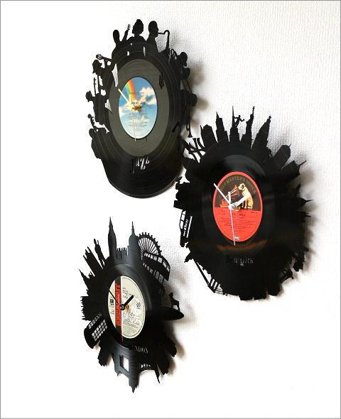 アナログレコードの掛け時計 3タイプ(2)