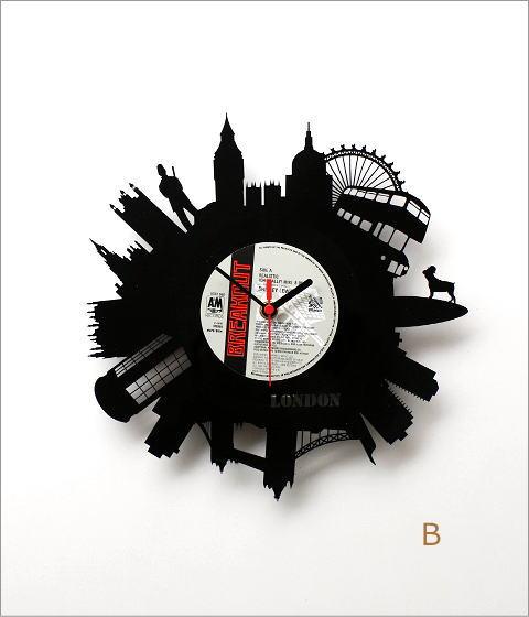 アナログレコードの掛け時計 3タイプ(5)