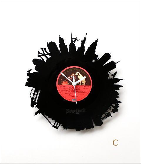アナログレコードの掛け時計 3タイプ(6)
