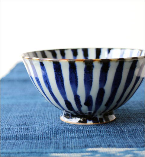 飯碗 染付濃十草 2カラー(2)
