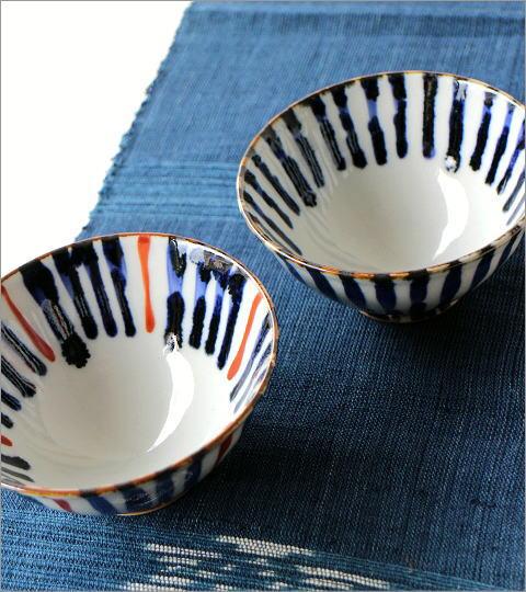 飯碗 染付濃十草 2カラー(4)