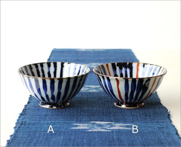 飯碗 染付濃十草 2カラー(5)