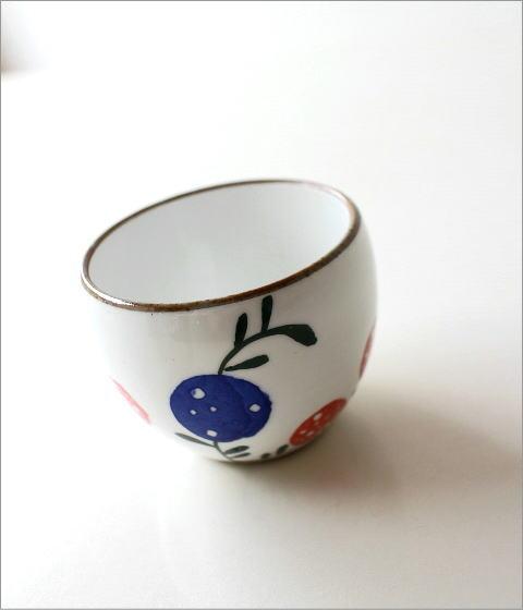 粉引 花の実 丸煎茶(1)