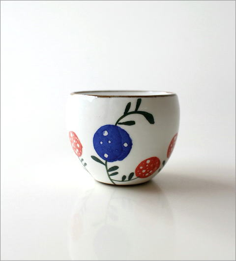 粉引 花の実 丸煎茶(4)