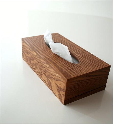ウッドシンプルティッシュボックス(1)