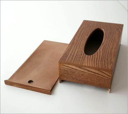 ウッドシンプルティッシュボックス(3)