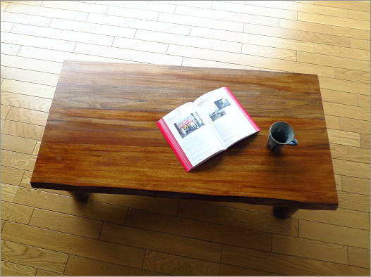 チーク原木テーブル
