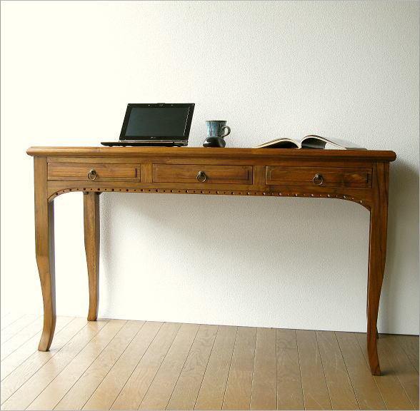电脑桌固体 den 办公桌办公室写字台 pc デスクアジアン 家具木写作