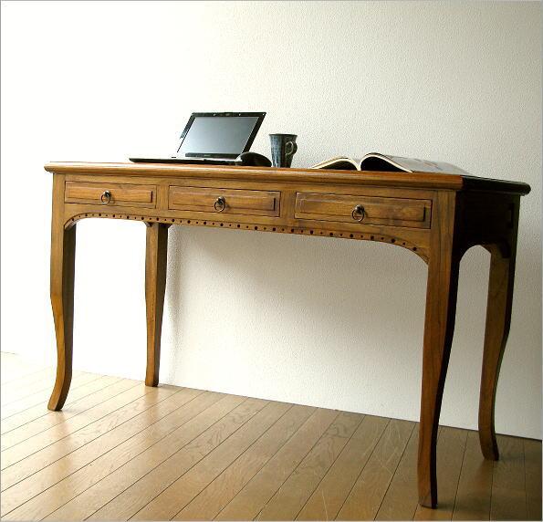 电脑桌固体 den 办公桌办公室写字台 pc デスクアジアン 家具木写作课