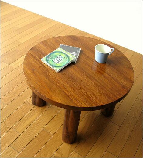 hakusan  라쿠텐 일본: 나무 원형 둥근 식탁 낮은 테이블 앉아 쓰는 ...