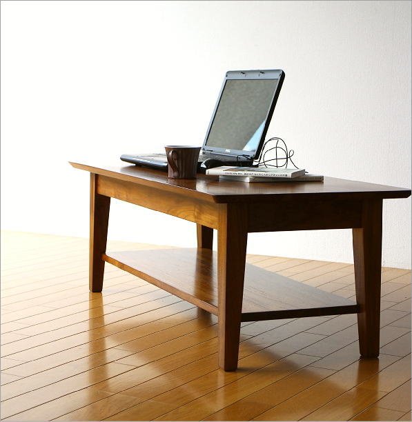チークリビングテーブル110