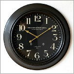 ブラックスチールの掛時計