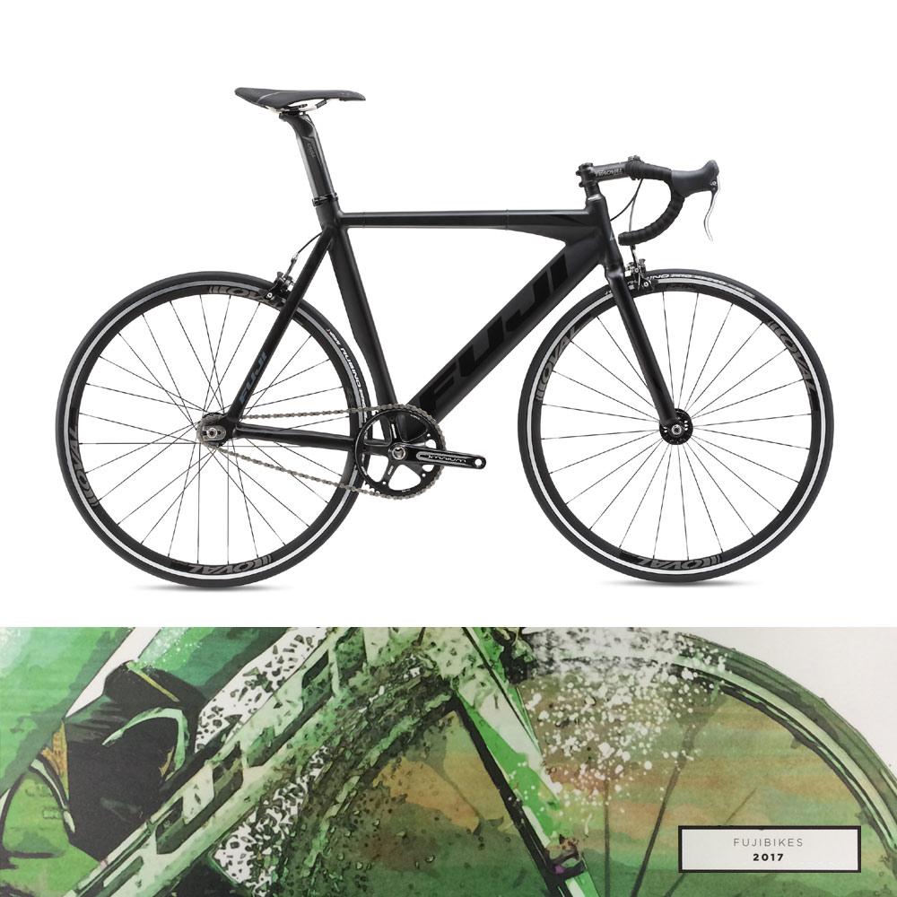 【2017モデル】FUJI(フジ)TRACK PRO(トラックプロ)シングル・ピストバイク【送料プランC】 【完全組立】  【身長に合わせて組立/段ボール処理の心配なく、すぐに乗れる自転車をご自宅にお届け。】