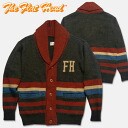 THE FLAT HEAD (Flathead) short color knit Cardigan L black