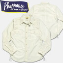 PHERROW's (Fellows ) シャンブレーワーク t-shirt White