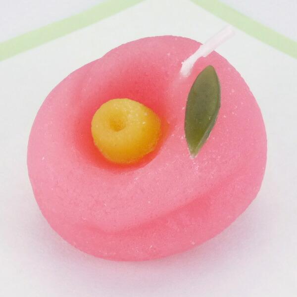 冬の和菓子キャンドル 椿