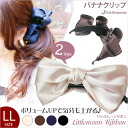 Little Moon Ribbon LL (clamp Ribbon LL) the Super value for money! -Head axe hair accessories Ribbon clip プラクリップ hairclip.