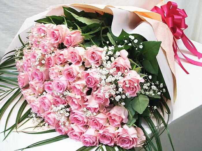 本数を選べるピンク バラ