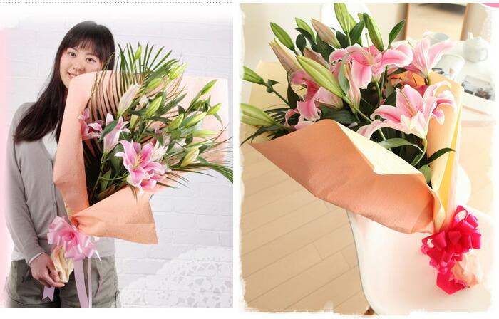 ソルボンヌの花束女性