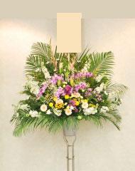 葬儀スタンド花1段