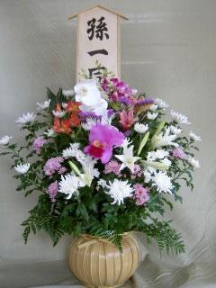 お通夜に贈る花