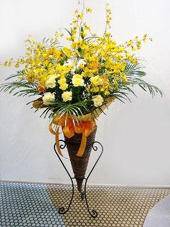 開業祝いのスタンド花 台をプレゼント