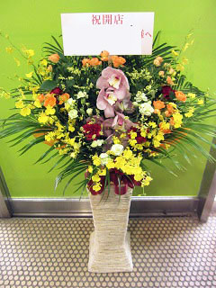 開店祝いに贈るスタンド花