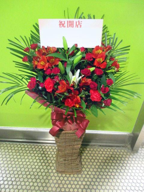 赤い開店花