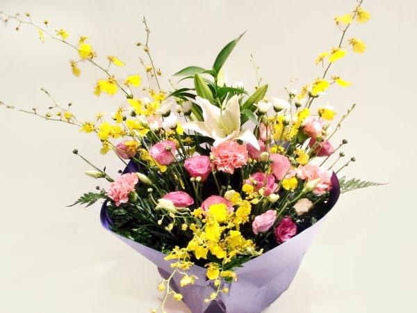 色入り お供え アレンジメント花