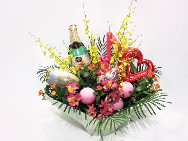 開店祝い・移転祝い、イベント、誕生日、記念日などのお祝いにバルーン付きアレンジメント