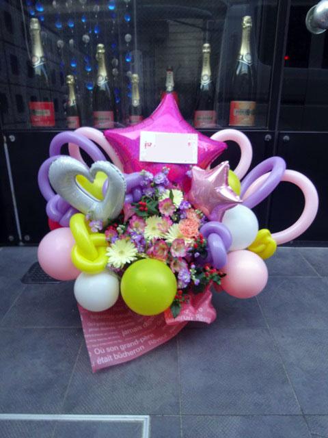 バルーンとお花のアレンジメント