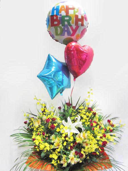 開店祝い、イベント、誕生日などのお祝いに風船入りアレンジメント