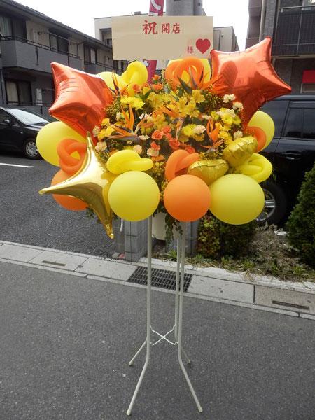 バルーンと花