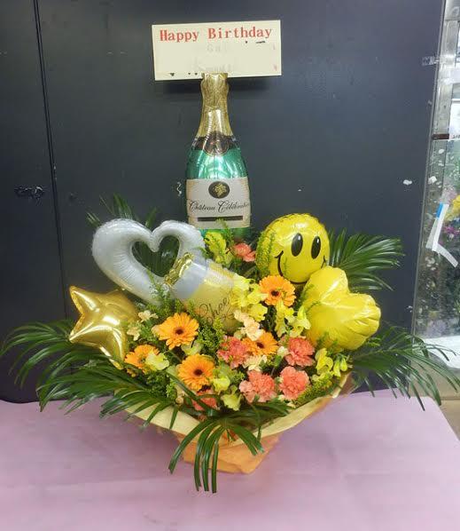 お祝い バルーン花
