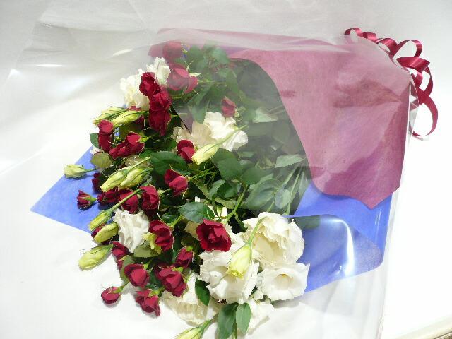 紅白の花束